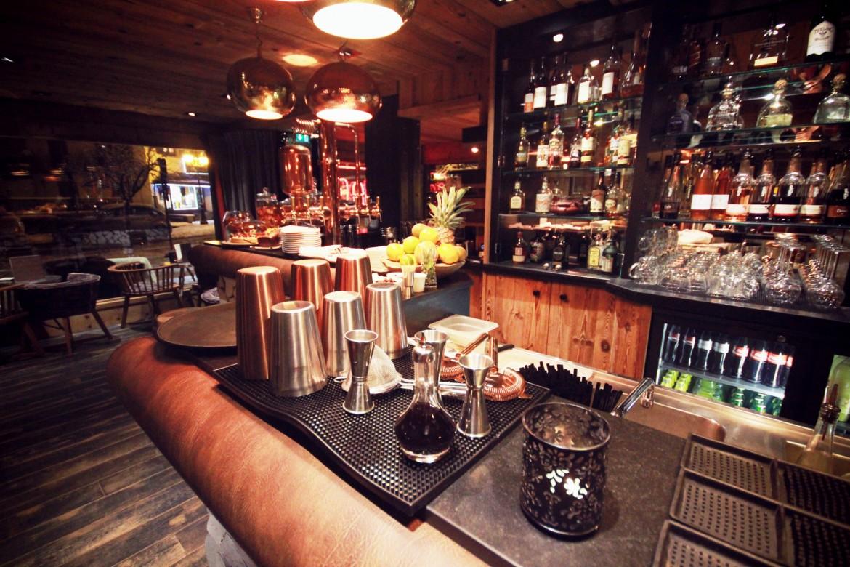 Bar à cocktail de montagne - Le M de Megève