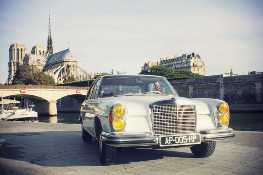 Balade parisienne en Mercedes 280 SE