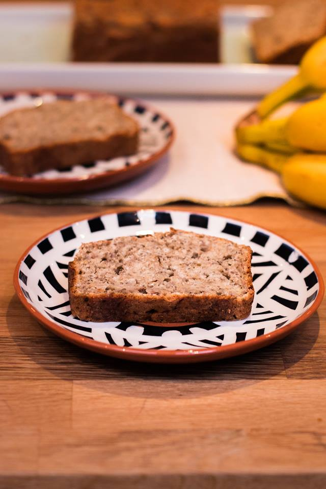Banana cake assiette