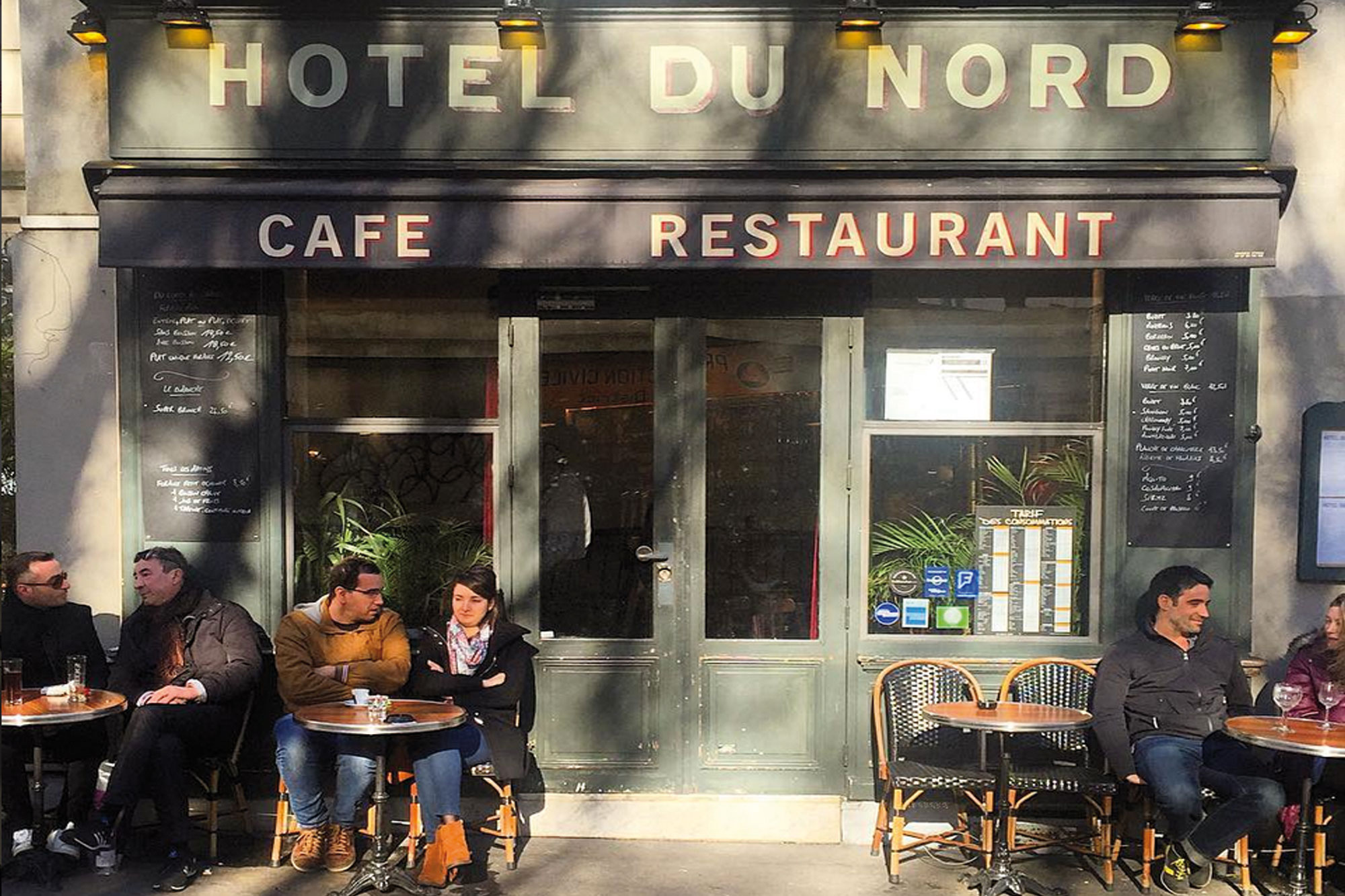 H tel du nord le restaurant mythique du canal saint - Canal saint martin restaurant ...